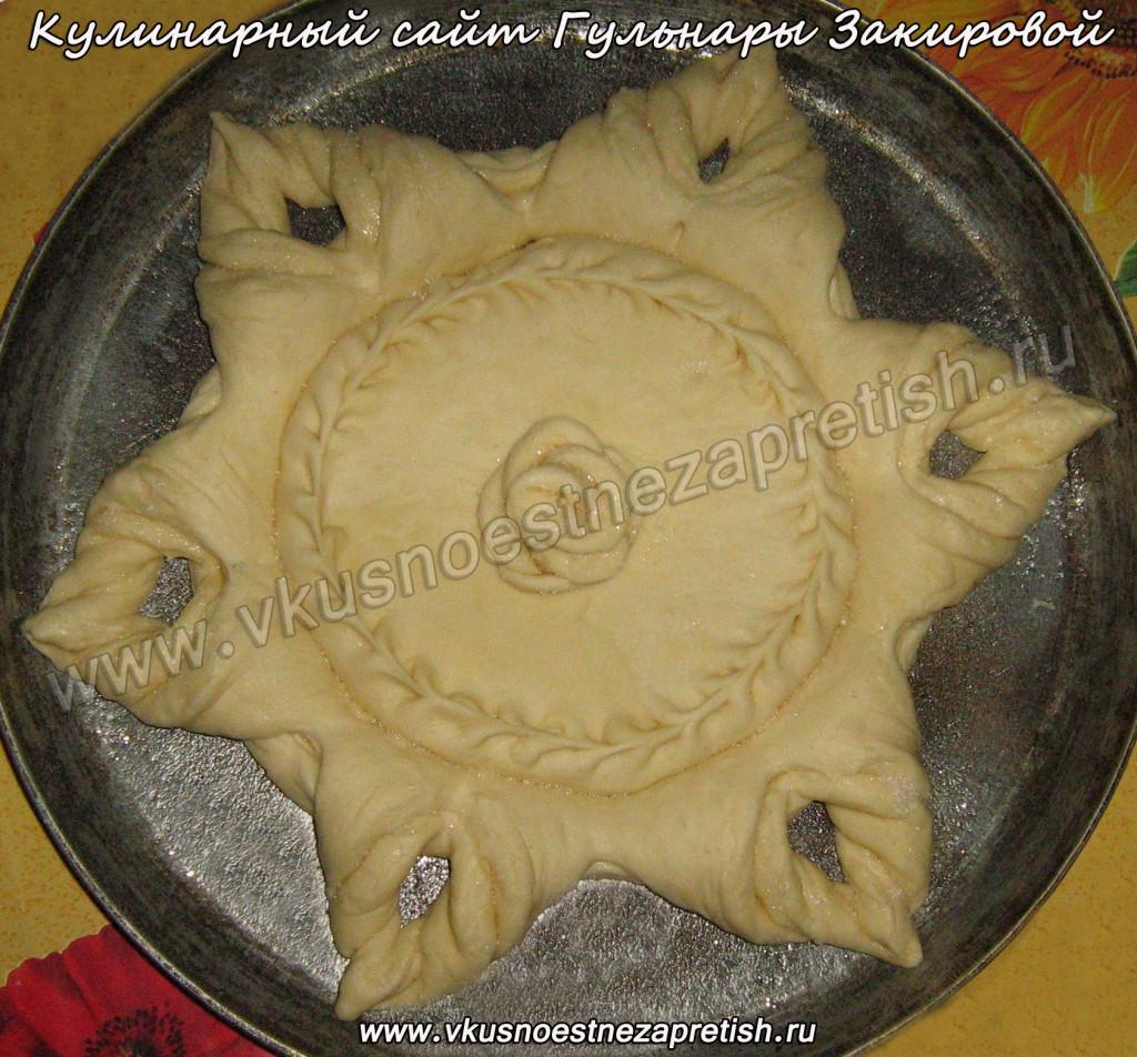 Красивый пирог с черной смородиной(3)