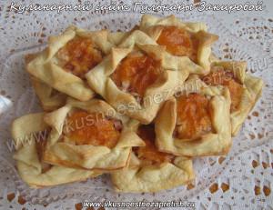 Закуска из слоеного теста с ветчиной и сыром