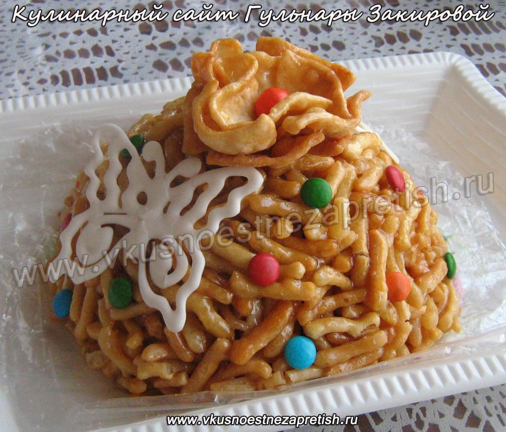 татарское блюдо чак-чак с фото