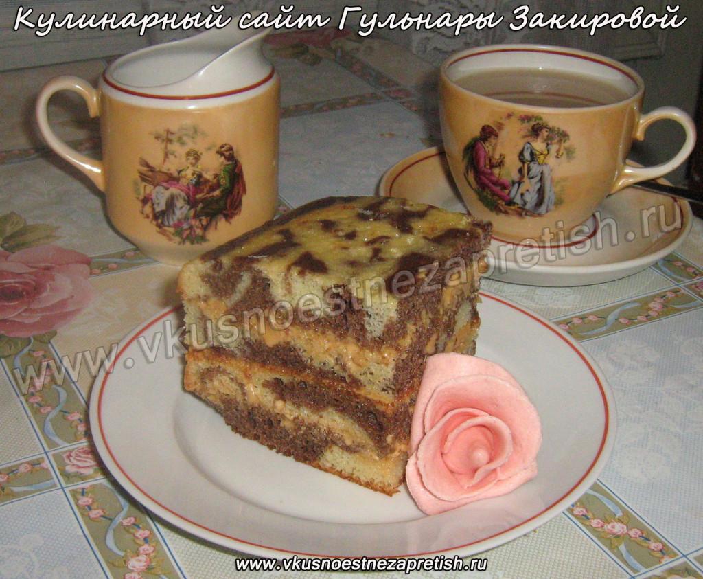 Торт Мраморный с розами из мастики1