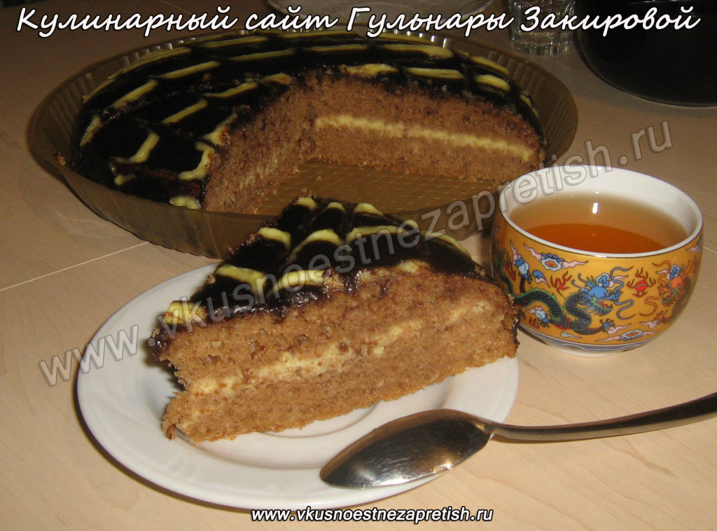Торт полосатый с кокосовой стружкой1
