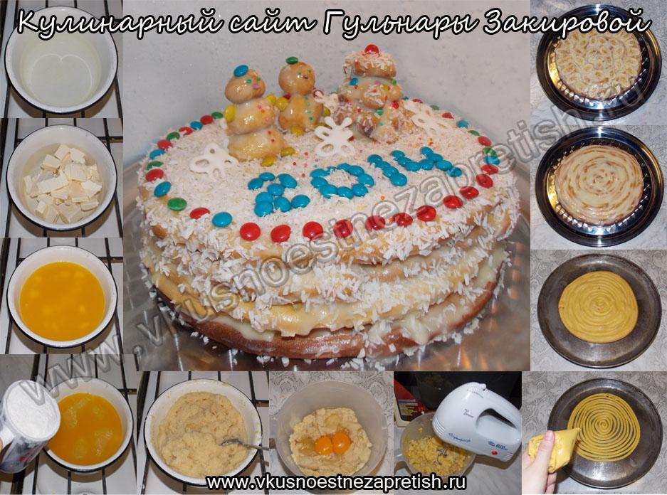 Заварной торт Новый год-1