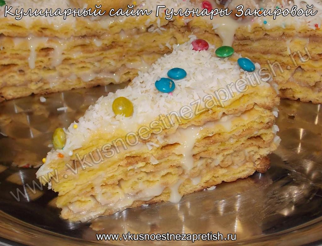 Заварной торт Новый год2