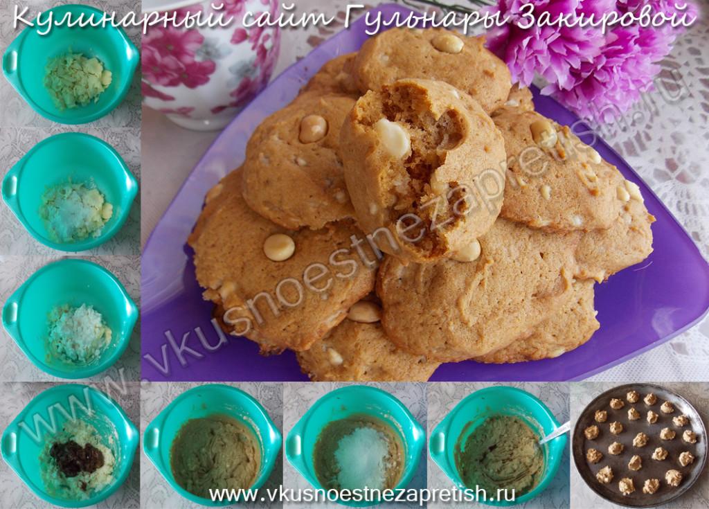 Печенье с арахисом из вареной сгущенки1