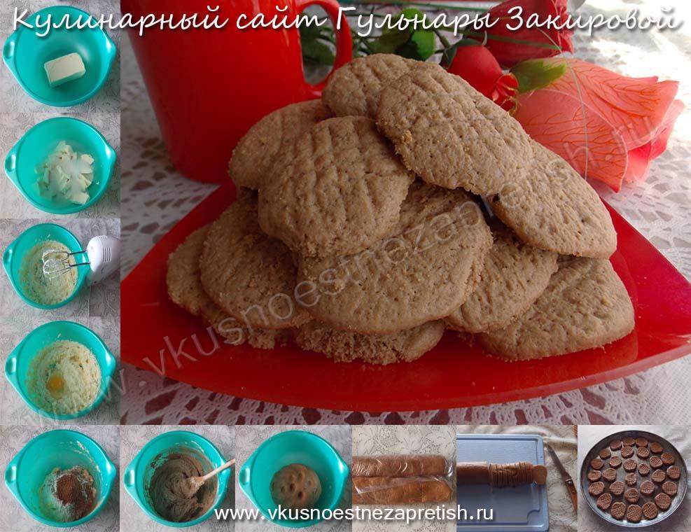 Песочное печенье с какао-1