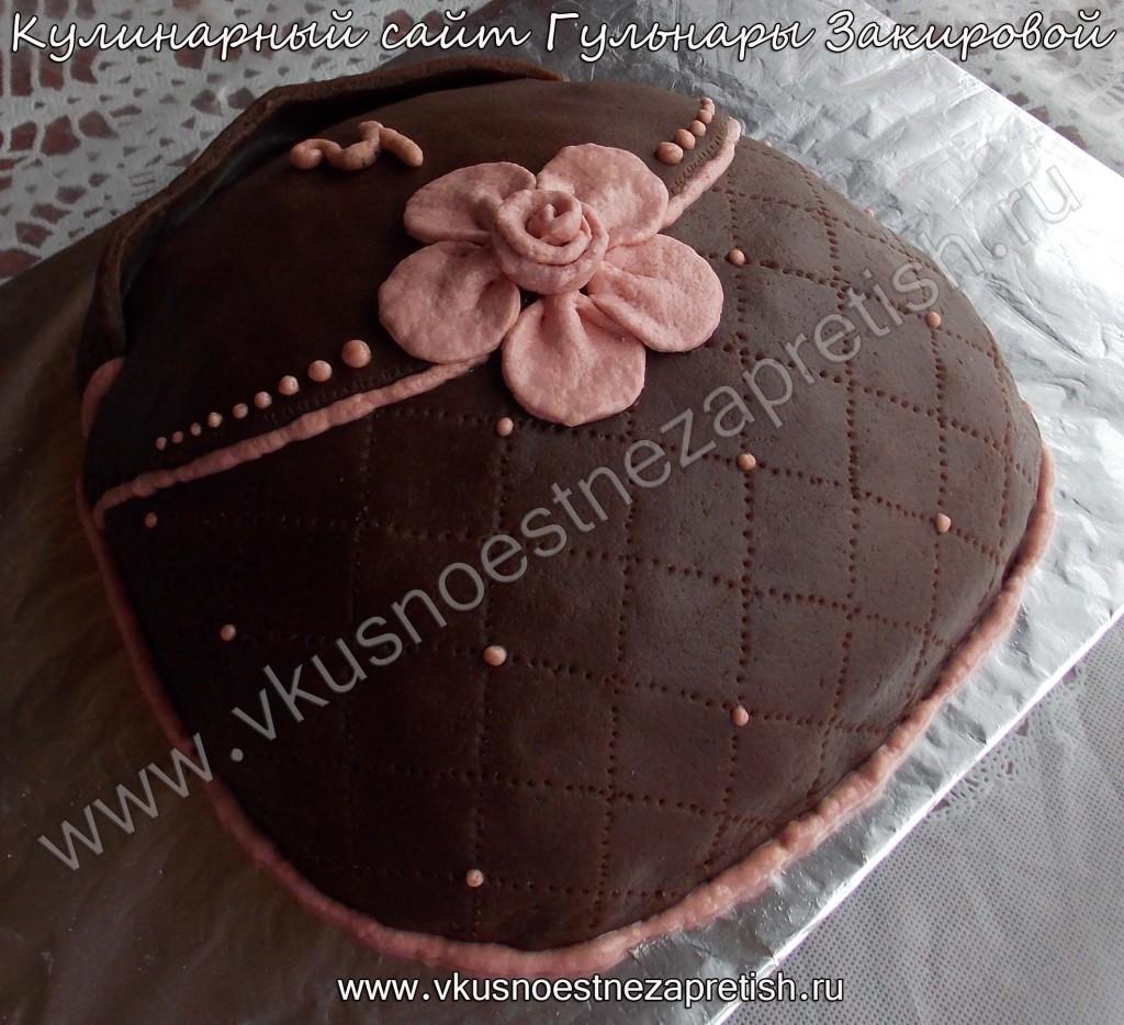 Торт сумка