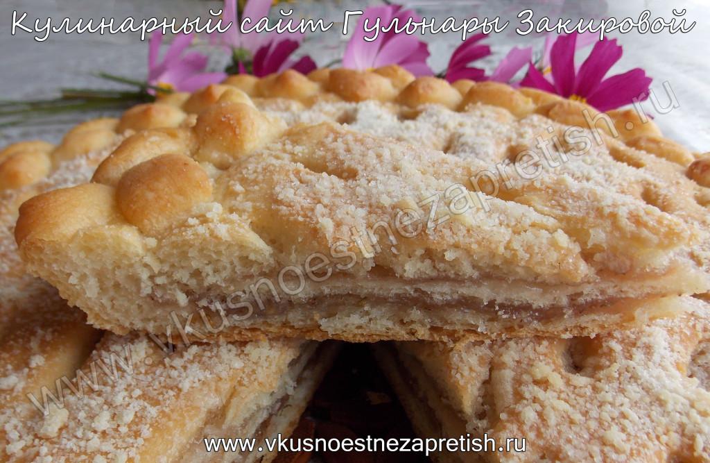 Красивый пирог с клубникой1