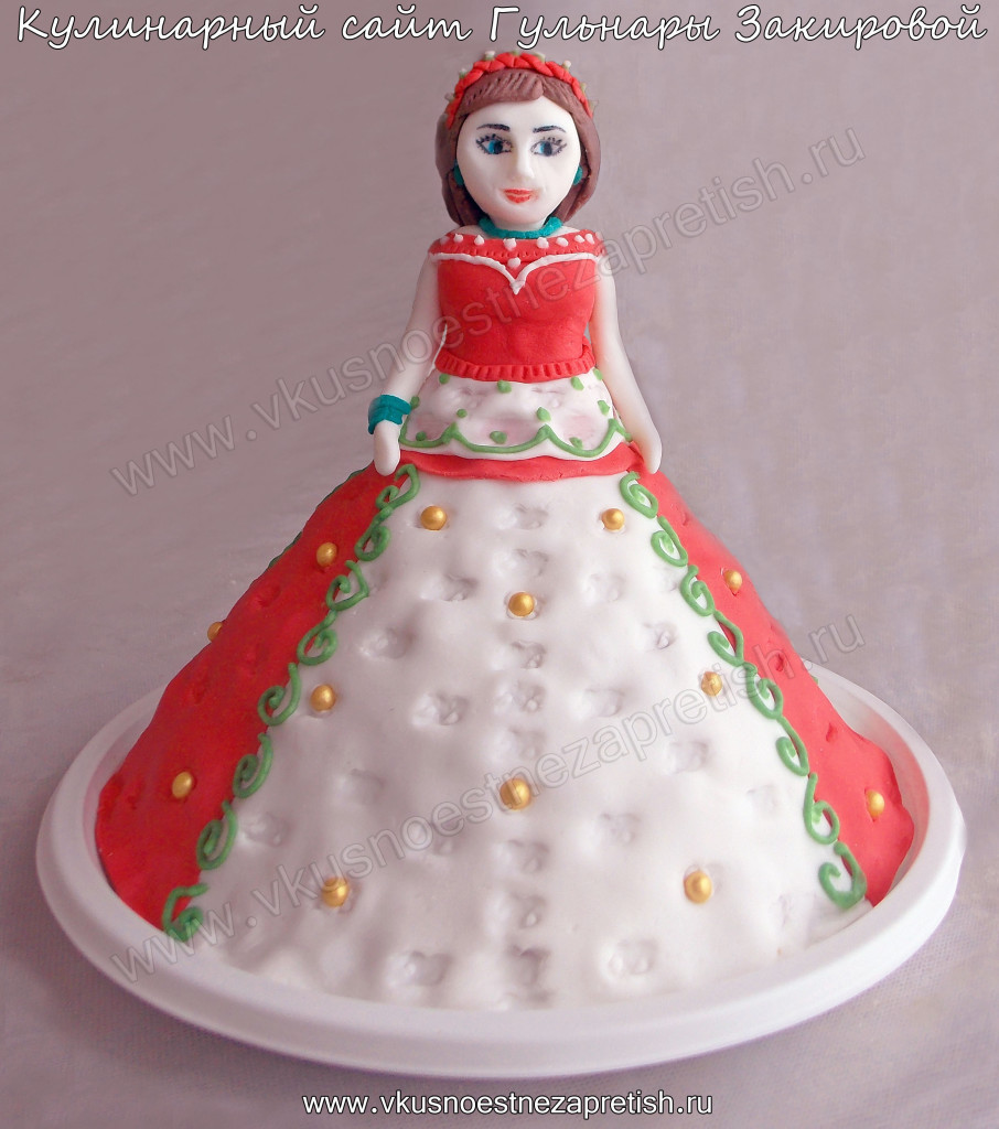 Торт Кукла №3