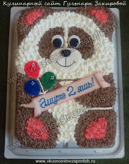 Торт бисквитный Мишка